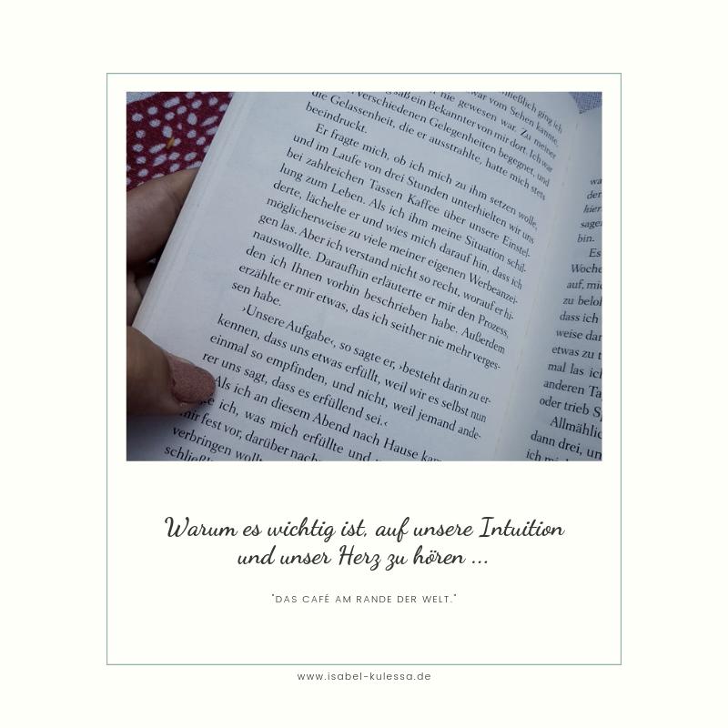 Meine Erkenntnisse Aus Dem Buch Das Cafe Am Rande Der Welt