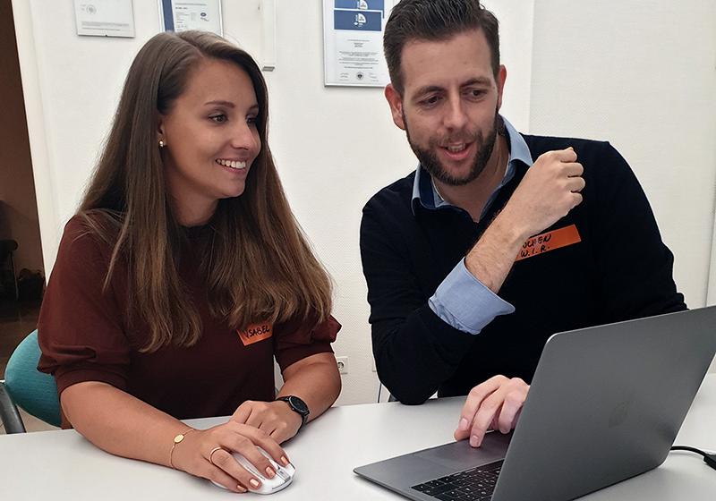 Jochen Pfister (WIR GmbH) und Isabel Kulessa