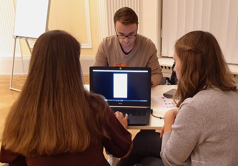 Startup Team (hejm) und Isabel Kulessa