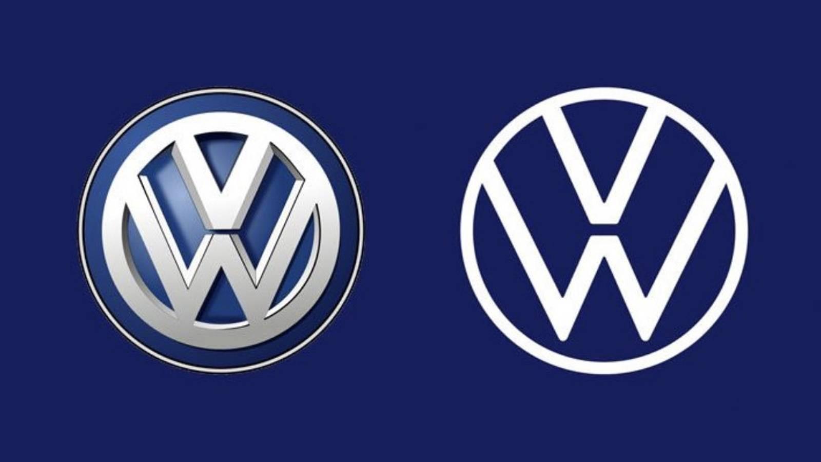 Vorher vs. Nachher VW-Logo | Quelle: stern.de ©VW